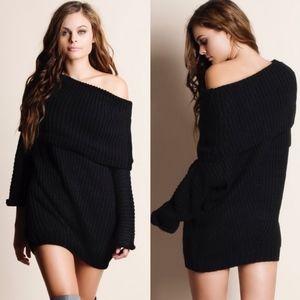 SYDNEY sweater top - BLACK